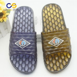 Jelly injection PVC man slipper durable bathroom slipper for men