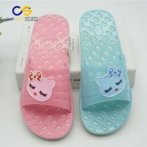 Jelly injection PVC women slipper indoor bathroom slipper for lady