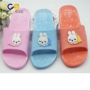 2017 most popular women home slipper durable PVC slipper for women