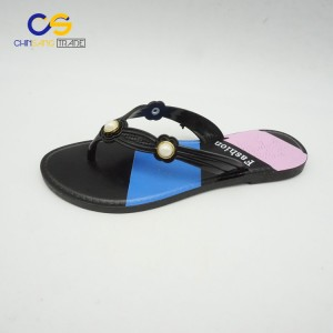 Most popular women outdoor slipper with beads