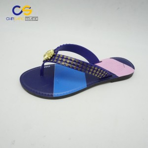 2017 new design fashion women outdoor beach flip flops