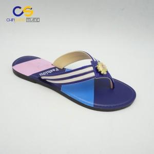 Durable PVC women outdoor flip flops fashion summer slipper for women