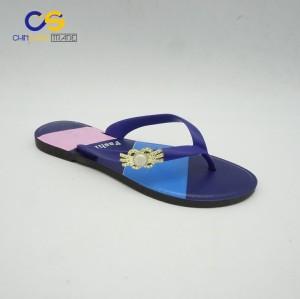 Fashion PVC women summer outdoor flip flops from Wuchuan