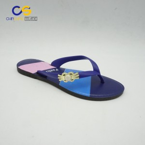 Fashion PVC women summer outdoor flip flops from Wuchuan