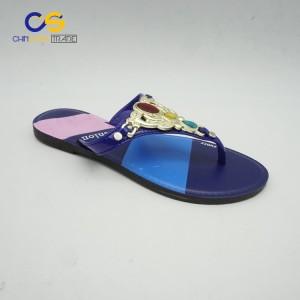 Hot selling summer women outdoor flat flip flop slipper