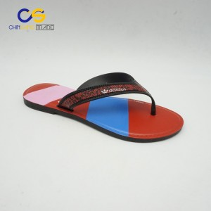 Women beach fashion design for blowing PVC flip flops slippers