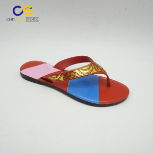 Blowing PVC lady flip flops for young lady from Wuchuan