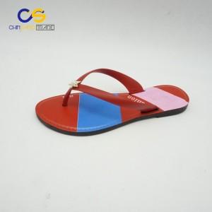 Cheap women PVC flip flops made in China