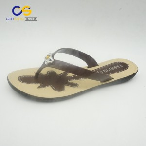 2017 new arrival PVC women outdoor flip flop slipper