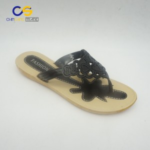 2017 new design air blowing women outdoor beach flip flop slipper