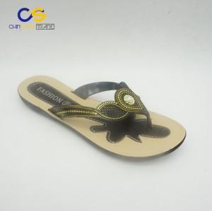 Promotional PVC women flat flip flops from Wuchuan