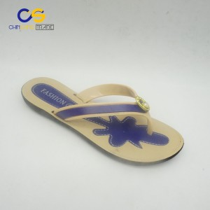 Factory price PVC women flip flops fashion women slipper
