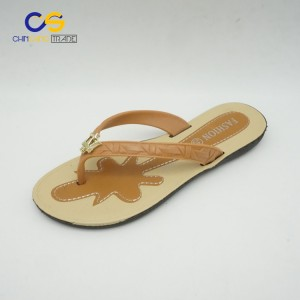 Casual women outdoor flip flops PVC summer women slipper