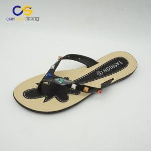 Fashion women flip flops with beads summer outdoor women flip flop slippers