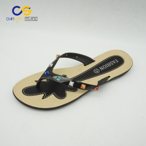 Fashion women flip flops with beads summer outdoor women flip flop slippers