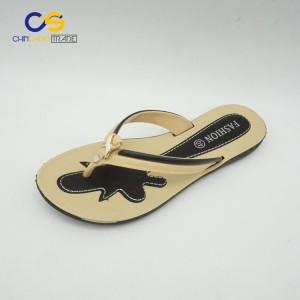 Hot sale PVC women outdoor flip flops with factory price