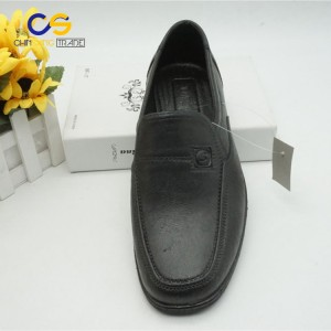 Black leather men shoes 2017 wholesale leather office shoes men