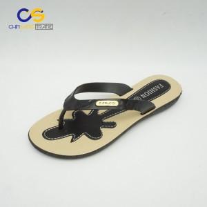 2017 new design fashion women slipper shoes outdoor beach flip flops for lady
