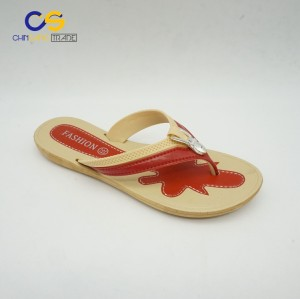 Flat blowing PVC women flip flops popular women outdoor slipper shoes