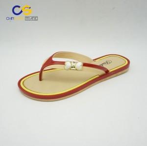 Good quality PVC women flip flops fashion slipper shoes for lady