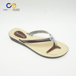 Air blowing flat women summer outdoor beach flip flops with low price