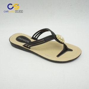 Durable PVC women flip flops summer outdoor fashion slipper shoes