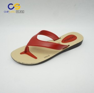 Red women fashion summer indoor outdoor beach flip flops from Chinsang trade