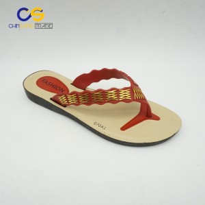 Wholesale cheap women casual flip flops fashion summer slipper shoes for lady