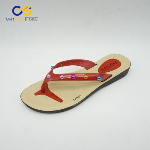 Chinsang trade promotional PVC women flip flops with high quality