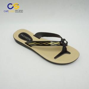 Low price PVC women flip flops China factory supply women summer slipper