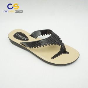 Wholesale cheap women PVC slipper shoes simple summer outdoor women flip flops