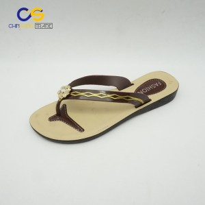 Promotional women PVC slipper shoes summer outdoor flip flops