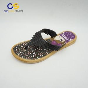 Fancy women slipper shoes shinning outdoor flip flops for women