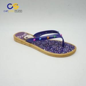 High quality women slipper shoes PVC flip flops for women