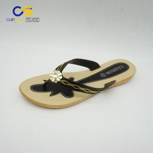 Simple black women air blowing flip flops from Wuchuan