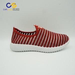 Stock comfortable women running shoes casual flat walking shoes for women