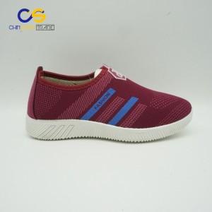 Soft air sport shoes casual flat women running shoes from Wuchuan