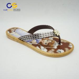 Durable fancy women flip flops flat PVC slipper shoes for women