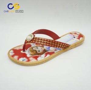 Red fancy women flip flops air blowing casual outdoor slipper shoes for women
