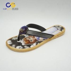 Wholesale price women PVC flip flops easy to walk flip flops for women