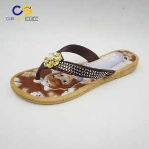 Casual flat women PVC flip flops with factory price