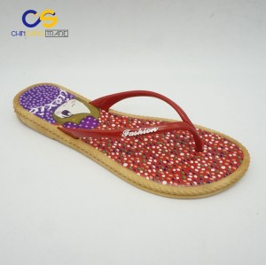 Simple red women air blowing flip flops with factory price
