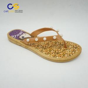 2018 Fashion summer sandals for women indoor outdoor beach elegant flip flops with bead