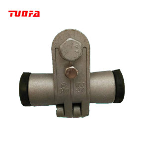 Electric power line fittings preformed suspension clamp