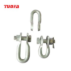Factory supply galvanized U shackle for electric power line fittings