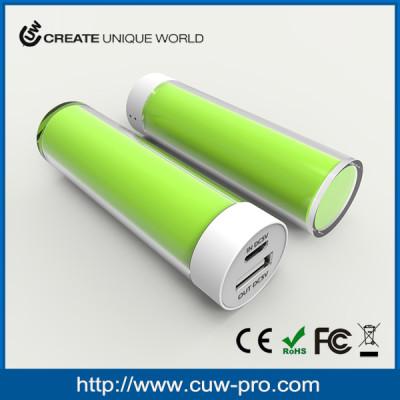 personalized custom logo universal round lipstick mini charger portable power bank 2600mah gift
