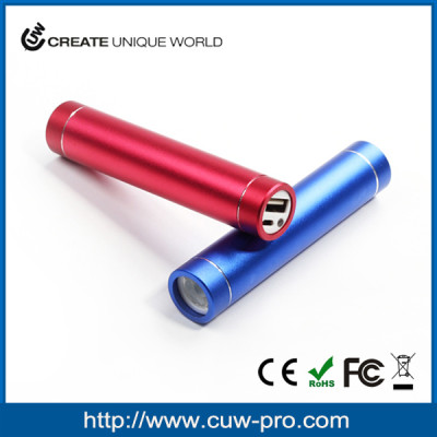 top 5 mini cylinder aluminium power bank charger with led flashlight