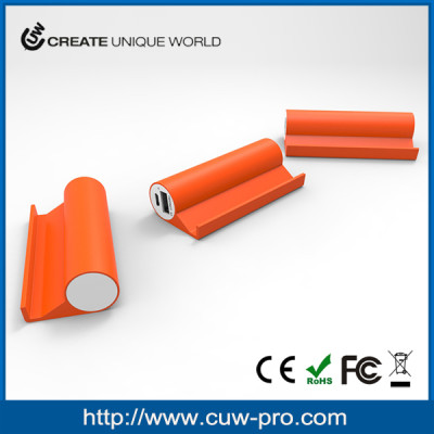OEM custom logo portable charger power bank 2000/2500/3000mAh with mobile phone holder CE ROHS FCC approved
