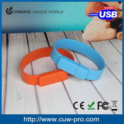 fashion colorful silicon wristband usb memory stick 64MB-64GB