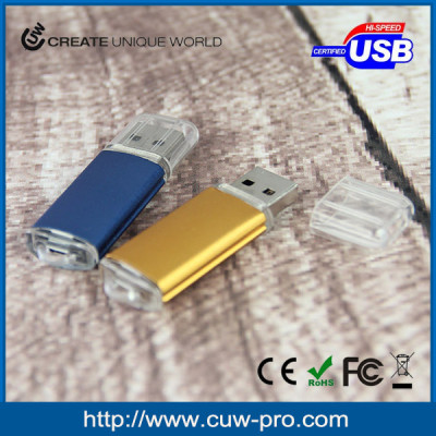 low price multicolored aluminium usb thumb drive with branded logo for marketing